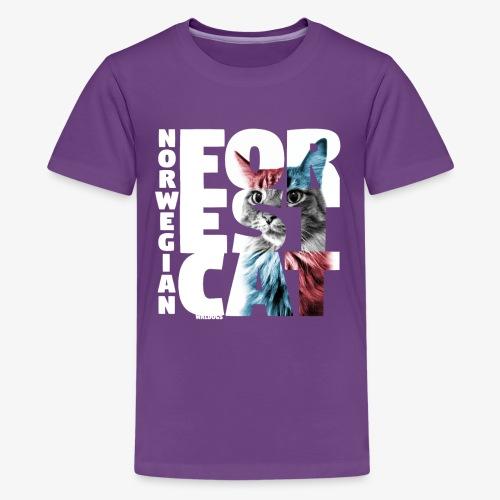 NASSU Forest Cat - Teinien premium t-paita