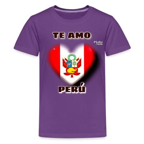Te Amo Peru Corazon - T-shirt Premium Ado