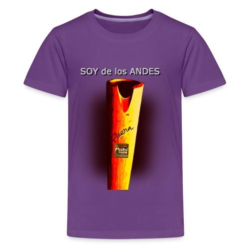 De los ANDES - La Quena - Camiseta premium adolescente