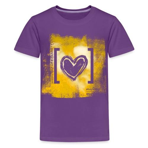 Herz / gelb - Teenager Premium T-Shirt