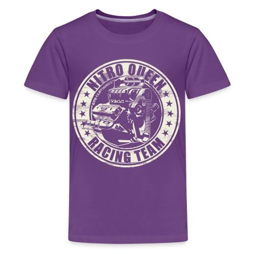 Nitro Queen V8 Racing Team - Teenage Premium T-Shirt