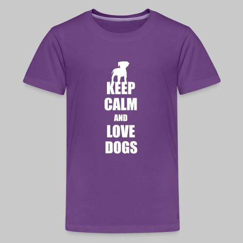Keep calm love dogs - Teenager Premium T-Shirt