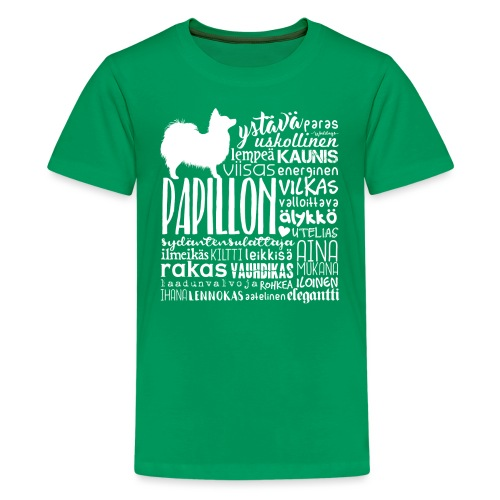 papillonsanat - Teinien premium t-paita