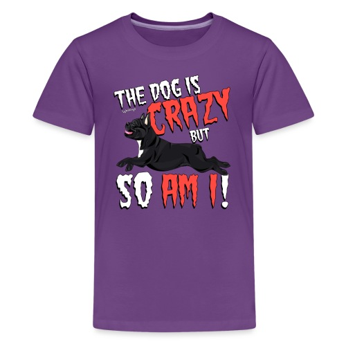 French Bulldog Crazy - Teenage Premium T-Shirt