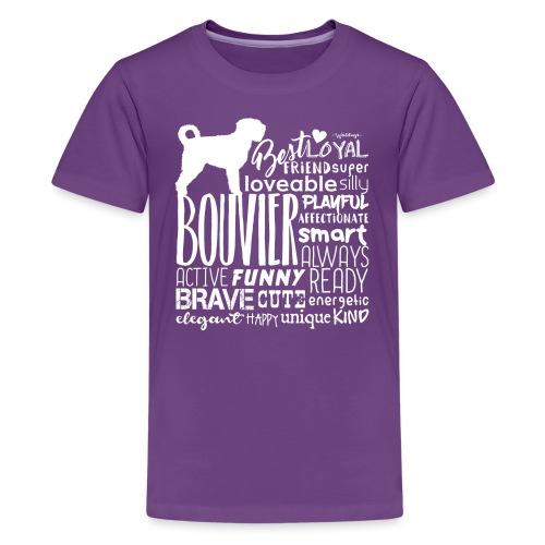 Bouvier Words White - Teenage Premium T-Shirt