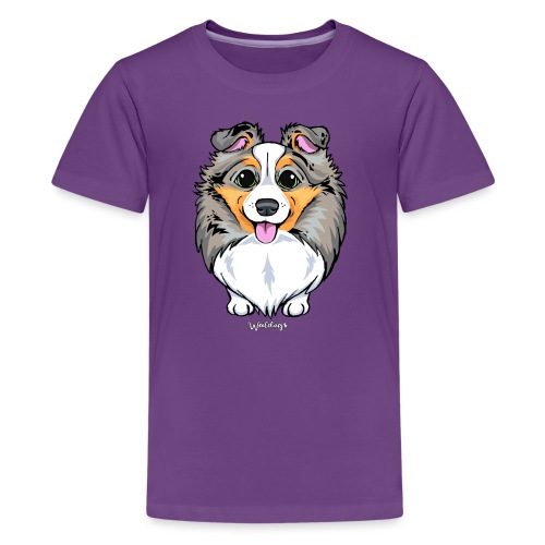 Sheltie Dog Cute 2 - Teenage Premium T-Shirt