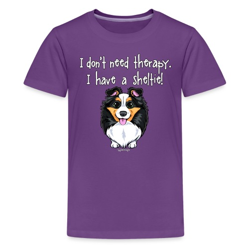 Sheltie Dog Therapy - Teenage Premium T-Shirt