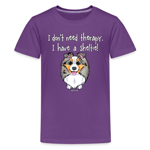 Sheltie Dog Therapy 3 - Teenage Premium T-Shirt