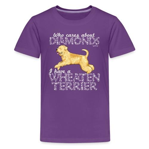 Wheaten Terrier Diamonds 3 - Teenage Premium T-Shirt