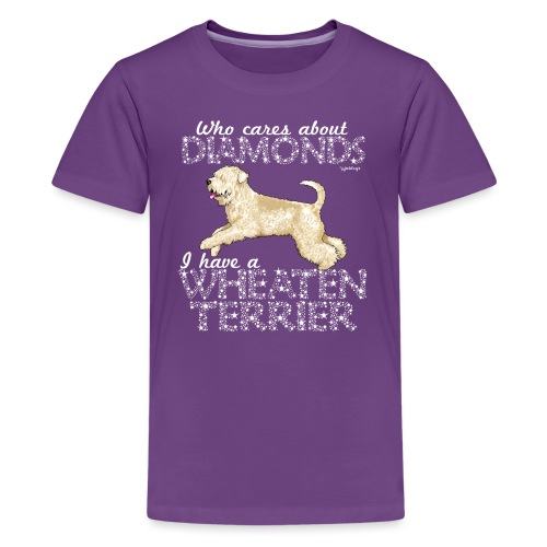 Wheaten Terrier Diamonds 4 - Teenage Premium T-Shirt