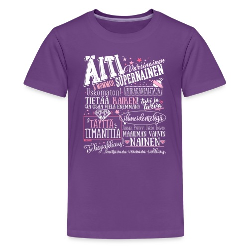 Äiti ja Mummo - Teinien premium t-paita