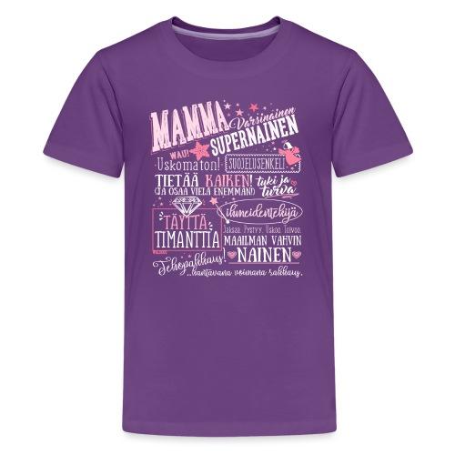 Mamman Oma Paita - Teinien premium t-paita