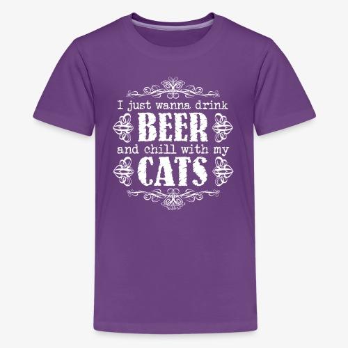 Beer Cats W - Teinien premium t-paita