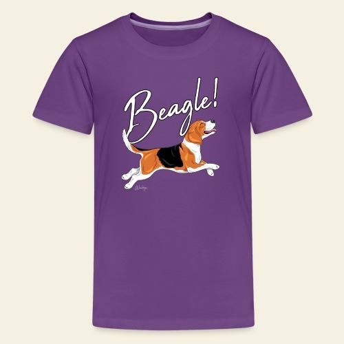 Beagle - Teinien premium t-paita