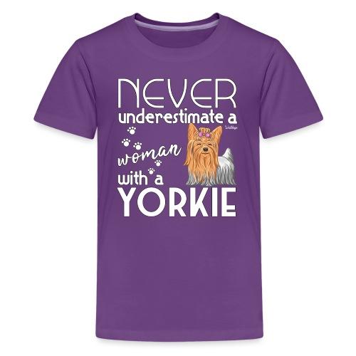 Yorkie Underestimate - Teinien premium t-paita