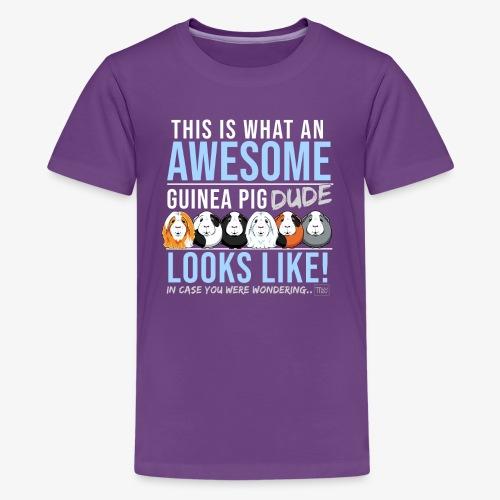 Guinea Pig Dude - Teinien premium t-paita