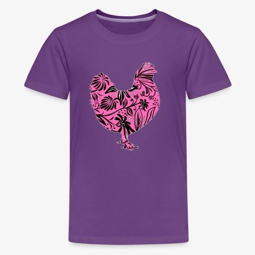 Flower Chicken IV - Teinien premium t-paita