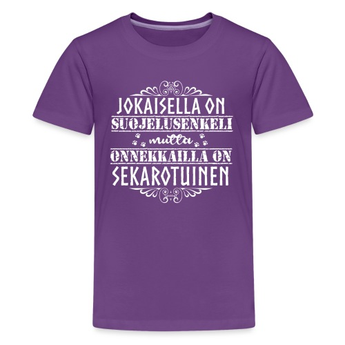 sekarotuinenenkeli - Teinien premium t-paita