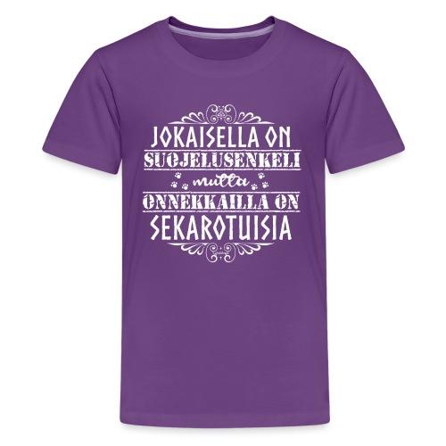 sekarotuinenenkeli3 - Teinien premium t-paita