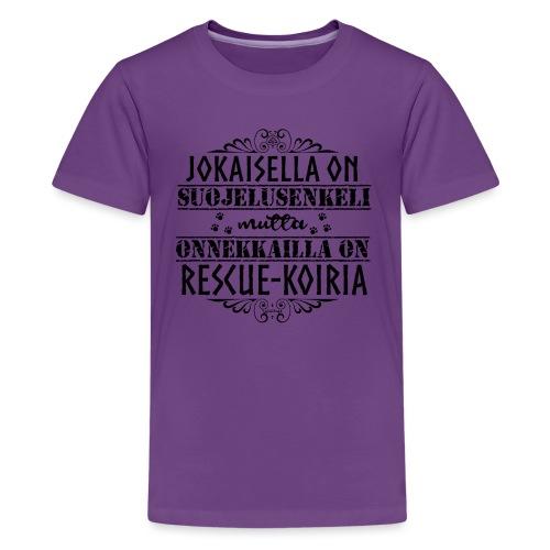 RescueKoiria Enkeli M - Teinien premium t-paita