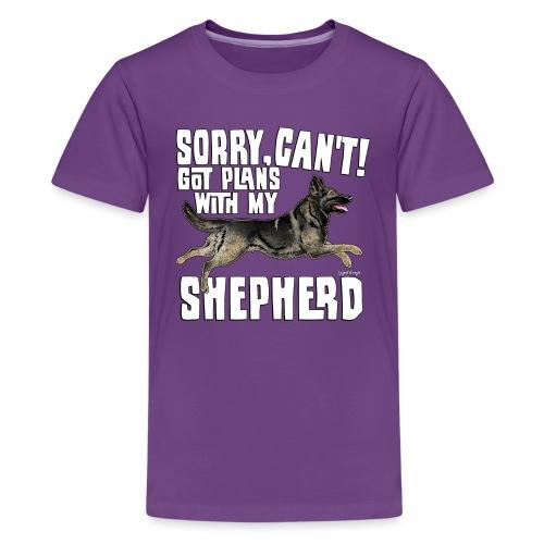 GSD Shepherd Plans 6 - Teinien premium t-paita