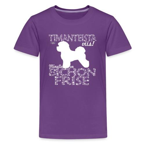 bichonfrisedimangit - Teinien premium t-paita