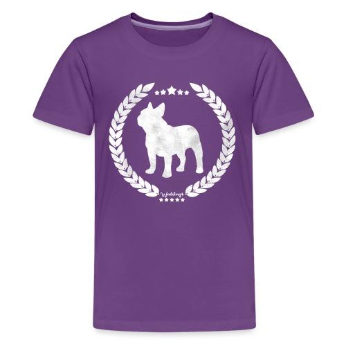 French Bulldog Army Silver - Teenage Premium T-Shirt