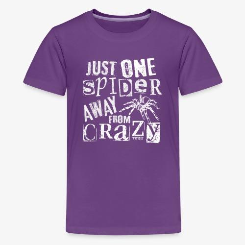 One Spider Away I - Teinien premium t-paita