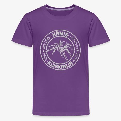 Hämiskuiskaaja Harmaa - Teinien premium t-paita