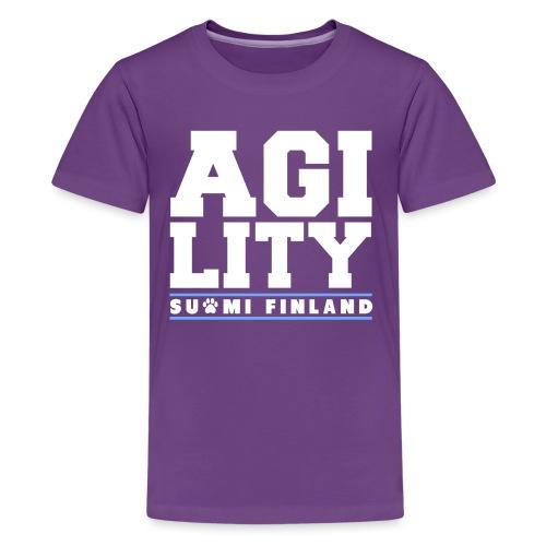 Agility Suomi - Teinien premium t-paita
