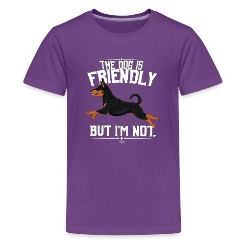 pinscherfriendly2 - Teinien premium t-paita