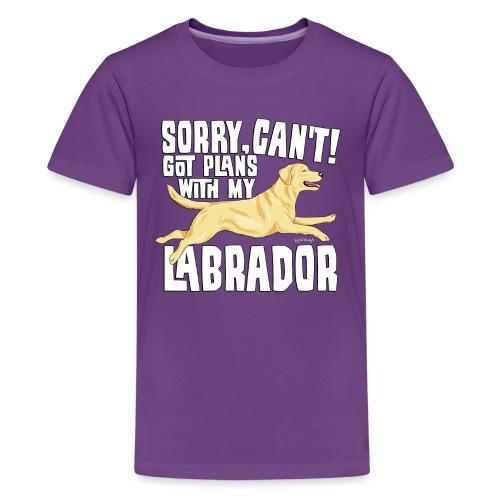 Labrador Plans My - Teinien premium t-paita
