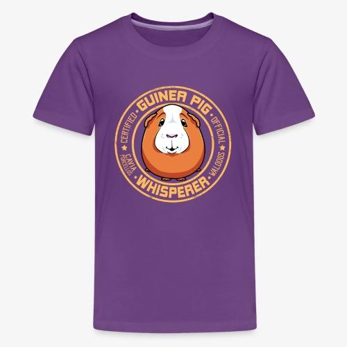 Guinea Pig Whisperer IV - Teinien premium t-paita