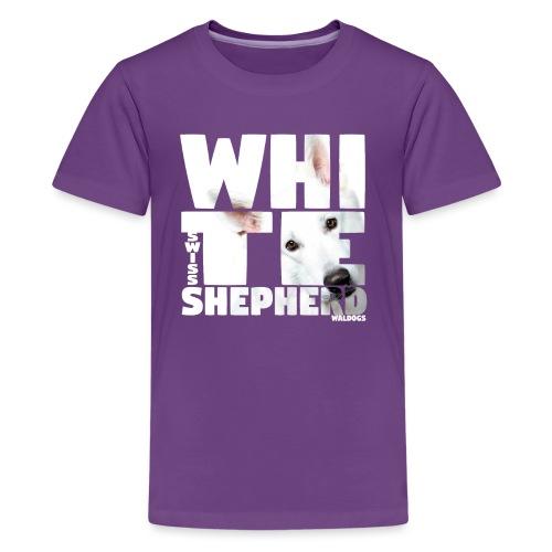 NASSU White Shepherd - Teinien premium t-paita