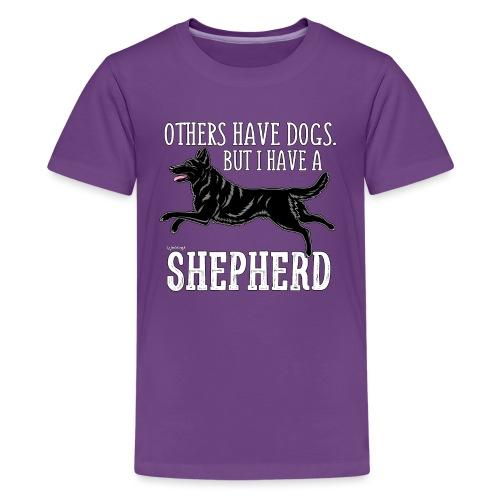 GSD Shepherd Dogs 3 - Teinien premium t-paita