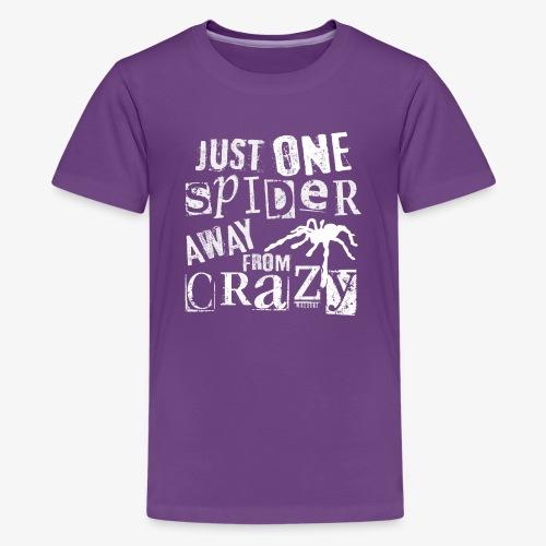 One Spider Away II - Teinien premium t-paita