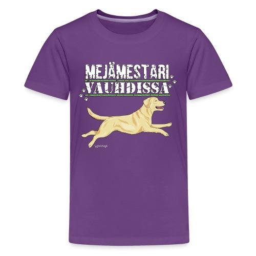 Labradori Mejämestari - Teinien premium t-paita