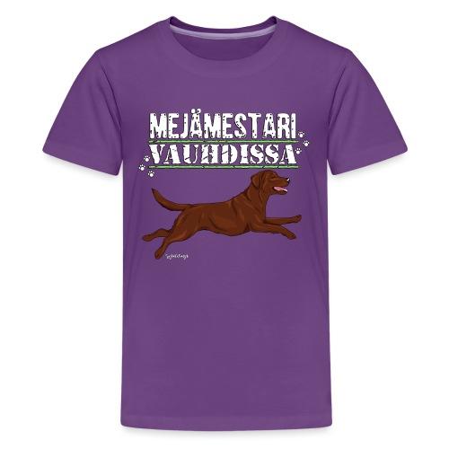 Labradori Mejämestari3 - Teinien premium t-paita