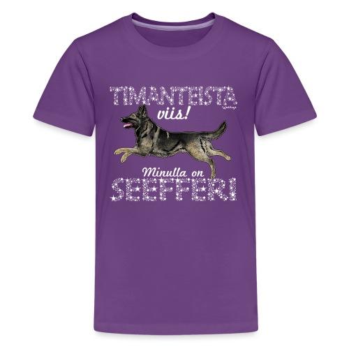 Saksanpaimen Dimangit - Teinien premium t-paita