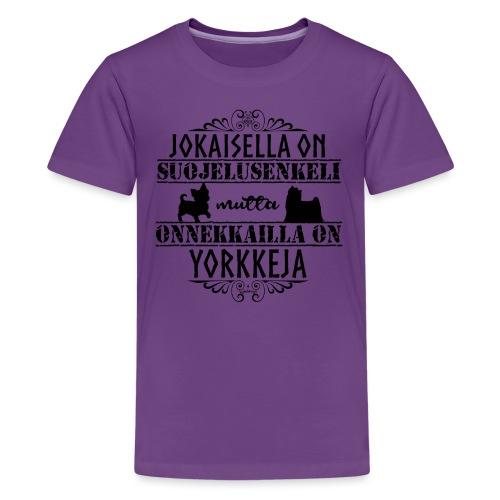 Yorkshirenterrieri Enkeli - Teinien premium t-paita