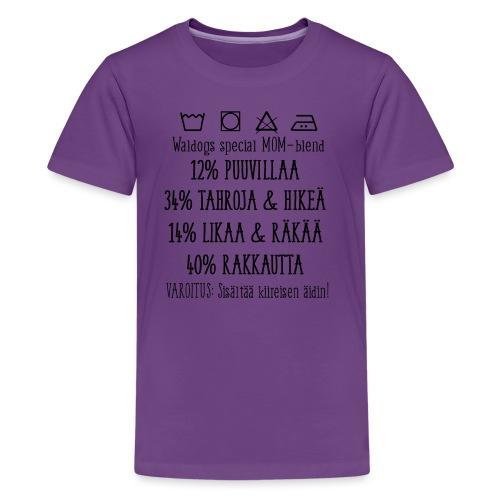 Äidin Paita - Teinien premium t-paita