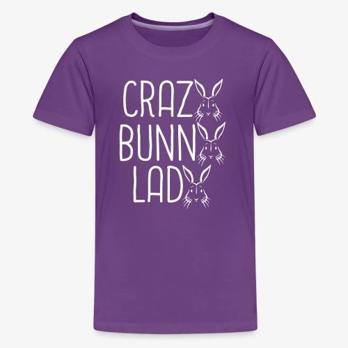 Crazy BunnyLady - Teinien premium t-paita