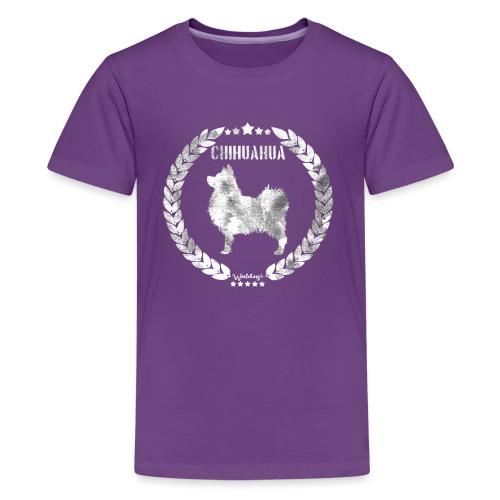 Chihuahua Army Grey 2 - Teinien premium t-paita