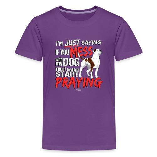 ambpraying3 - Teenage Premium T-Shirt