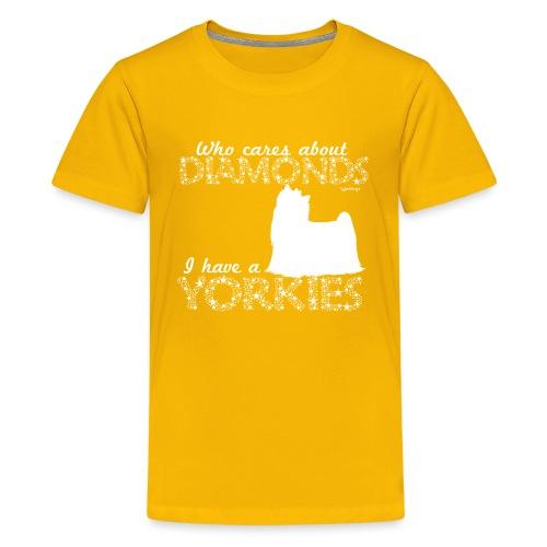 yorkiediamonds2 - Teinien premium t-paita