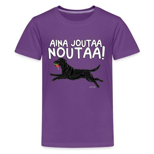 Labradori Noutaa - Teinien premium t-paita