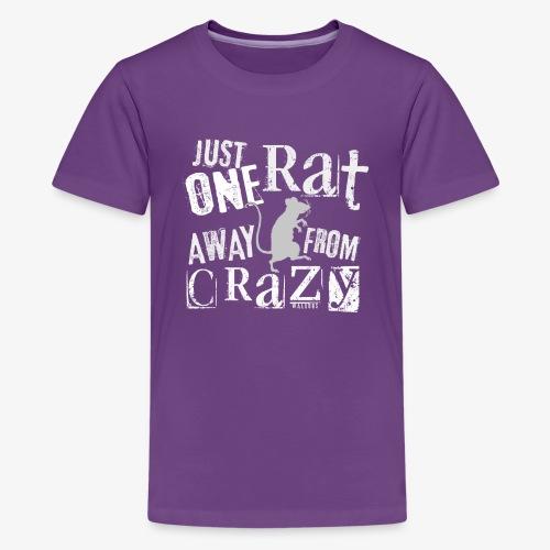 One Rat Crazy W - Teinien premium t-paita