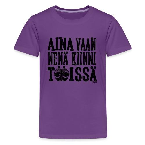 Nose Work Nenä Kiinni 2 - Teinien premium t-paita