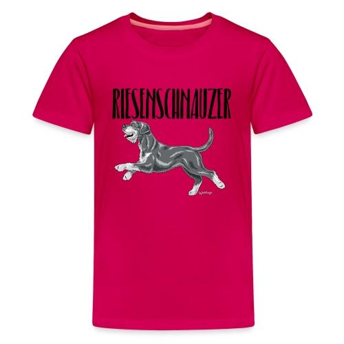 Riesenschnauzer 01 - Teenage Premium T-Shirt