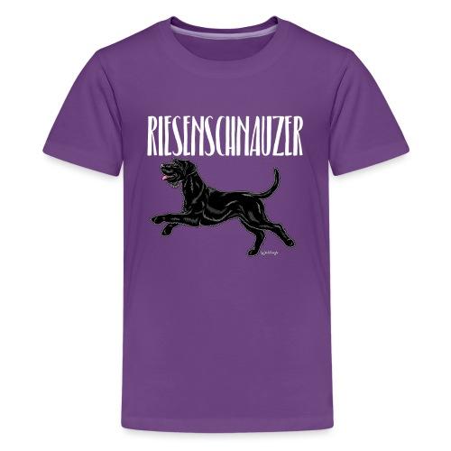 Riesenschnauzer 03 - Teenage Premium T-Shirt